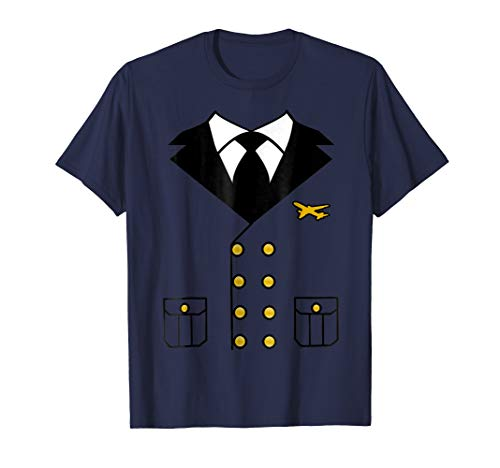 Double Breasted Jacket Printed Airline Pilot Costume