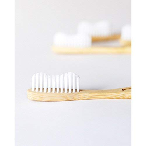 Wowe Natural Organic Bamboo Toothbrush Eco-Friendly Wood, Ergonomic, Soft BPA Free Bristles, Pack of 4 by Wowe (Image #4)