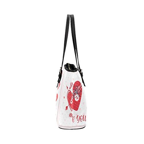 Cuir Forme Grand À Poignée Bags bagages Glissière Causals Bagages Coeur Pour Anniversaire Supérieure Cadeaux En Épaule Girls Main De Work Fermeture Porte D'amour Tote Souple Sacs 0q5zFY
