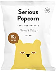 Serious Foods Popcorn Multipack, Sweet and Salty, 120 g
