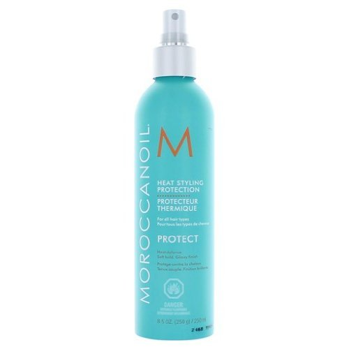 Moroccanoil Argan Oil Formula Heat Defense Glossy Finish Heat Styling Protection for All Hair Types 250 Ml /8.5 Oz