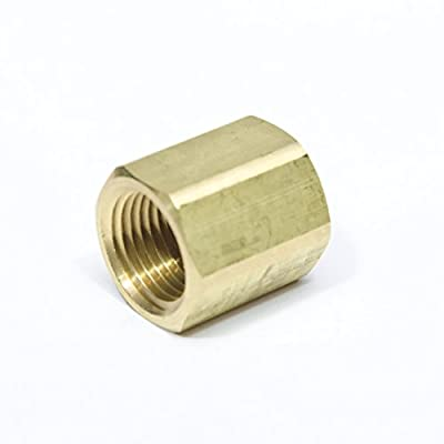 "FASPARTS 1/2"" NPT Female / FPT / FIP Coupler Brass Fitting Fuel / Air / Water / Boat / Gas / Oil WOG"