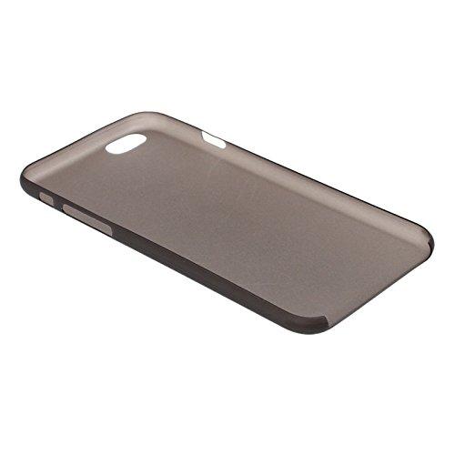 Mxnet 0.3mm Material de policarbonato ultrafino Shell de protección para PC para iPhone 6, versión transparente / edición mate Fundas ( Color : Black ) Black
