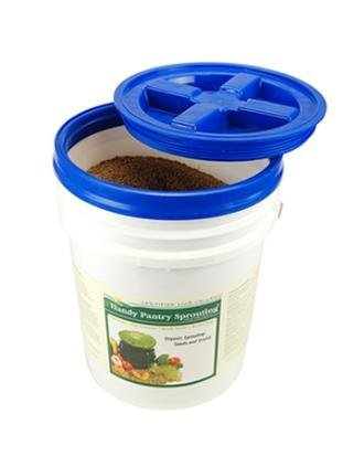 5 Gallon White Bucket & Gamma Seal Lid - Food Grade Plastic Pail & Gamma2 Screw Seal Tight Lid (5 White Gallon Pail)