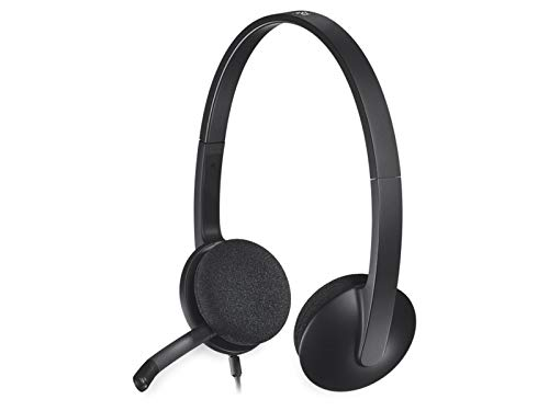 Logitech H340 Auriculares con Cable, Sonido Estéreo con Micrófono con Supresión de Ruido, USB, PC/Mac/Portátil , Negro