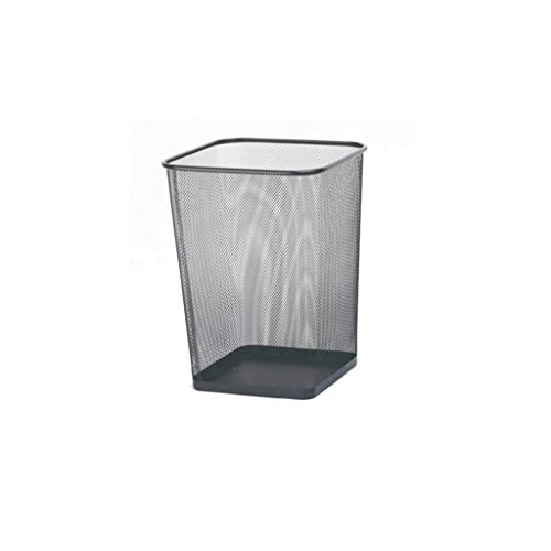YXLLJT Trash Can Home Office Large Thick  Barbed Wire Trash Can (Color : Black)