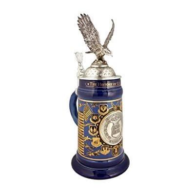 Image of Beer Mugs & Steins 0.75 Liter US Air Force History Ceramic Beer Stein