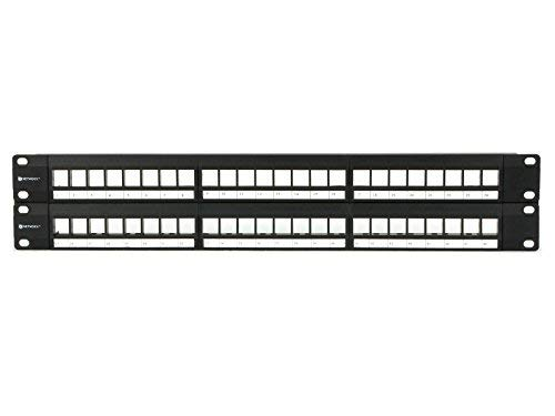 Networx 2U High-Density Blank Patch Panel - 48 Port
