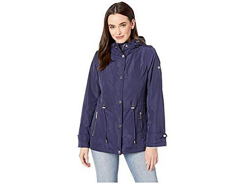 Michael Michael Kors Women's Snap Front Rain Jacket M324064M True Navy ()
