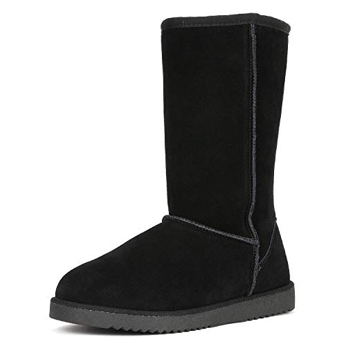 Shorty-HIGH Black Knee High Winter Snow Boots Size 7 M US ()