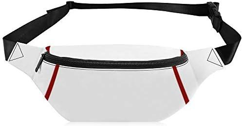 暗い赤の窓ガラスグリッド2正方形チェックグラフ用紙 ウエストバッグ ショルダーバッグチェストバッグ ヒップバッグ 多機能 防水 軽量 スポーツアウトドアクロスボディバッグユニセックスピクニック小旅行