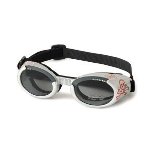 Doggles ILS Dog Goggle sunglasses with Skull and Crossbones / Smoke Lens Extra Small, My Pet Supplies