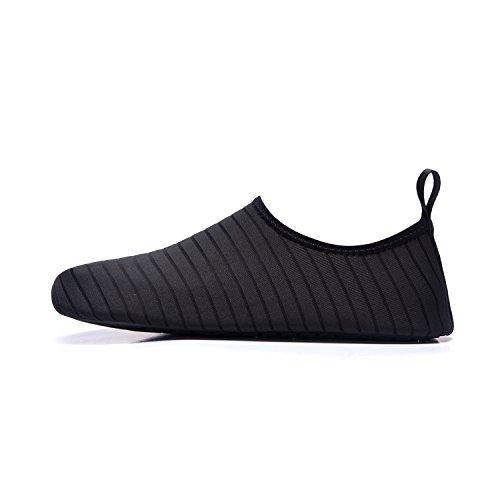 de Color Agua de de de Zapatos Playa Zapatos LEKUNI LK Natación Agua Calzado Soles schwarz Piscina Secado de Respirable Xc Rápido Unisex tq6Ftfa