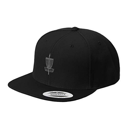 Snapback Baseball Hat Disc Golf Basket Embroidery Acrylic Cap Snaps Black One (Best B&y Disc Golf Baskets)