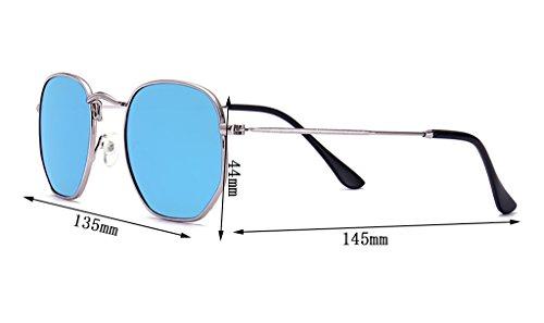 Sunglasses Personalized WYJL de 6 Mode Retro Soleil Lunettes Sunglasses Metal de Soleil Couleur de Lunettes Polygon 6 Lunettes Bright qqC6wf
