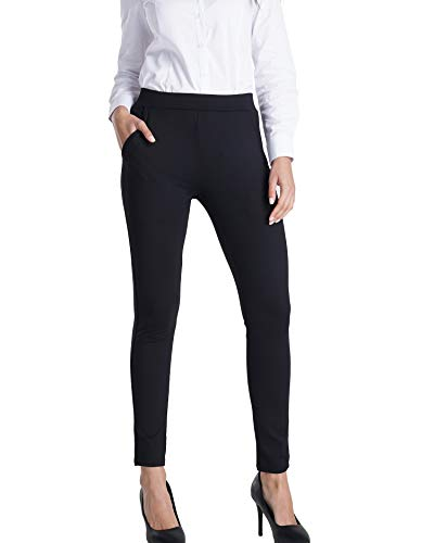 Harsmile Yoga Dress Pants for Women Pockets Business Casual Petite to Plus Size Workout Leggings, Black Medium ()