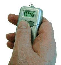 Talking Clock Keychain Silver