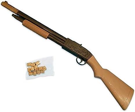 Amazon | 射的銃 コルクガン 1丁 コルク12玉付き W120×D30×H660 単品 ...