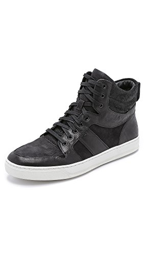 Vince Men's Adam High Top Sneakers, Black, 8 D(M) US