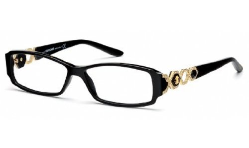 Roberto Cavalli RC0709 Eyeglass Frames - Shiny Black Frame, 54 mm Lens Diameter RC070954001