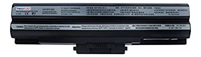 TechFuel VGP-BPS13B VGP-BPS13/Q VGP-BPS21A PCG-61411L PCG-81114L PCG-81214L Replacement Battery for Sony Laptops - Professional 6-cell 48Wh 10.8V Li-ion Battery from TechFuel