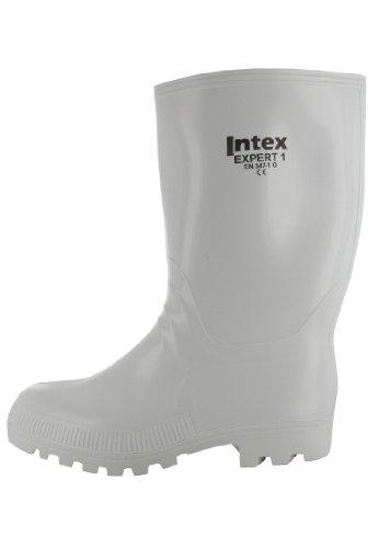 SALE - INTEX Expert - Herren Gummistiefel - Weiß Schuhe in Übergrößen