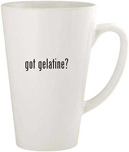 got gelatine? - 17oz Ceramic Latte Coffee Mug Cup, White