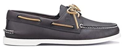 Men's Sperry Topsider, Authentic Original Boat Shoe BROWN W/WHITE SOLE 13 B(S) US