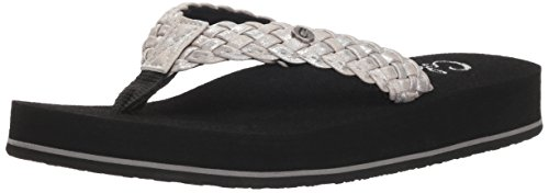 Cobian Women's Braided Bounce Sandal, Iridescent Pearl, 6 M US