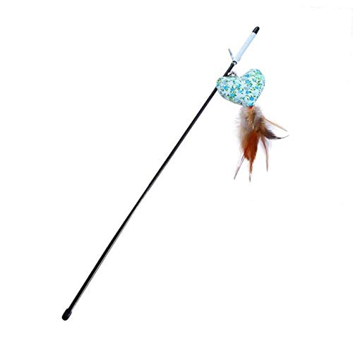 Cat Toys - Cute Cat Toy Funny Colorful Rod Teaser Wand Plastic Pet Interactive Stick Supply - Computed Tomography Axial Vomit Dog Throw Puke Dally Honk Flirt Sick Guy Fiddle - 1PCs