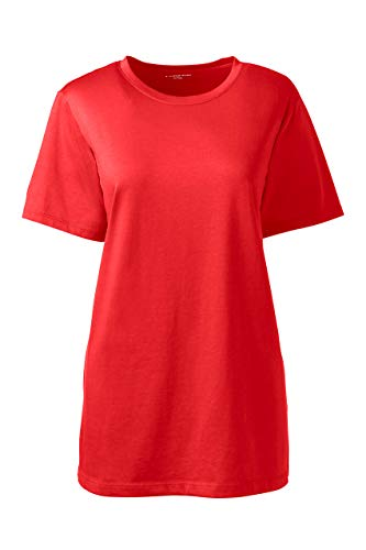 Lands' End Women's Relaxed Fit Supima Cotton Crewneck Short Sleeve T-Shirt