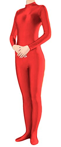 [Marvoll Unisex Lycra Spandex Zentai Unitard Catsuit for Kids and Adults (Medium, Red)] (Spandex Suits)