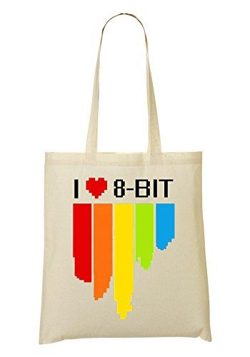 8bit Old School I Handbag Shopping Bag