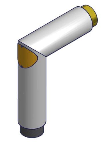 HARK tubo de rodilla diámetro 150 acero inoxidable estufa tubo de rodilla para tubo de chimenea
