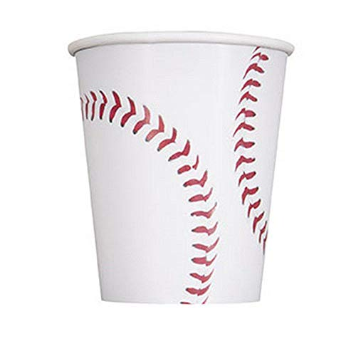 (9oz Baseball Party Cups, 8ct)