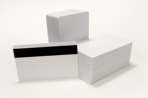 250 CR80 30Mil Blank White PVC Plastic Credit, Gift, Photo ID Cards With HiCo Magnetic Stripe Mag ()