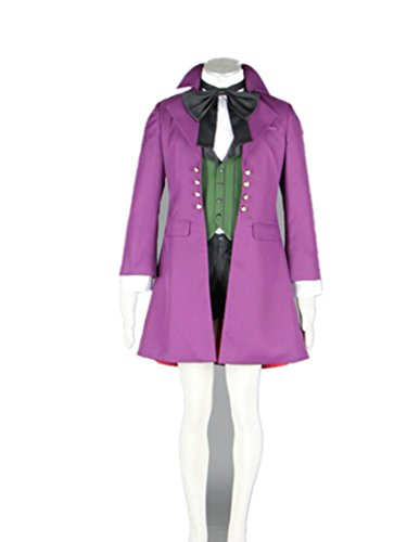 [Love A-1 Pictures Black Butler Cosplay Costume-Alois Trancy 7Pcs Set] (Black Butler Alois Costume)