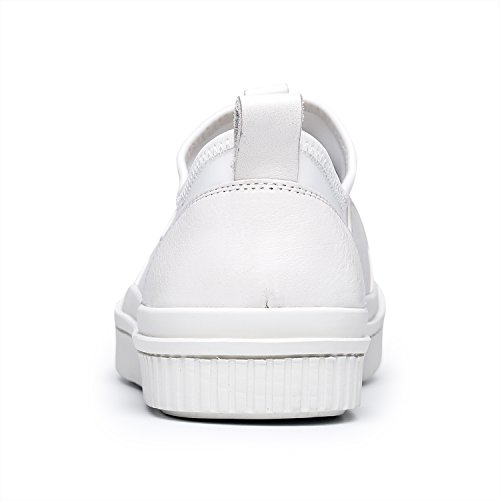 Round On Leather ZRO Slip Toe Men's Shoes White Casual Genuine x8RTqnX