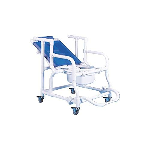 - Deluxe Reclining Shower/Commode Chair (With Pail   )