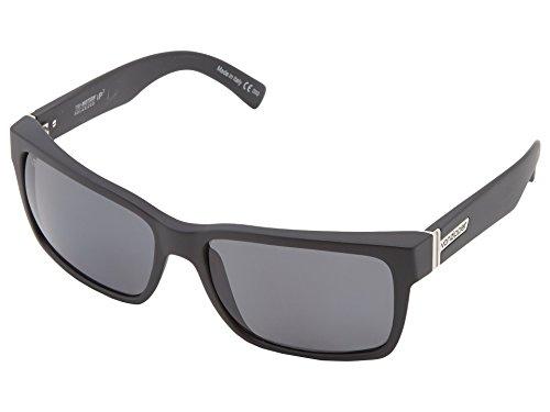 (VonZipper Mens Elmore Sunglasses, Black Satin/Grey Wildlife Polarized Lens)