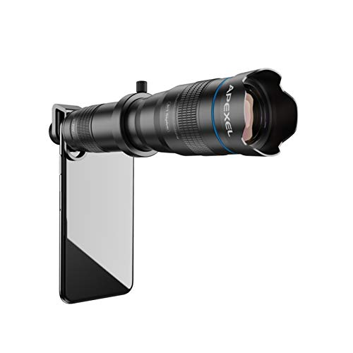 YYCHH HD 36X Mobile Phone Lens Camera Telephoto Zoom Monocular Lens with Remote Shutter Suitable for All Smartphones (Color : Only Telescope Lens)