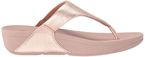 FitFlop Women's Lulu Toe Post Leather Flip-Flop Sandal, Black, 0 UK