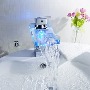 Sprinkle® - changement de couleur robinet conduit lavabo cascade salle de bains  avec vidage (finition chromée)  Amazon.fr  Bricolage 4503d9f5e2c4