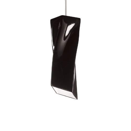 Twister 1 Light Mini Pendant Finish: Black Gloss, Canopy and Transformer: (A19 Twister Mini Pendant)