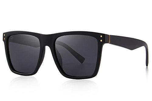 MERRY'S Polarized Sunglasses Men Women Retro Brand Sun Glasses UV 400 (Black, - Ladies Sunglass Brands