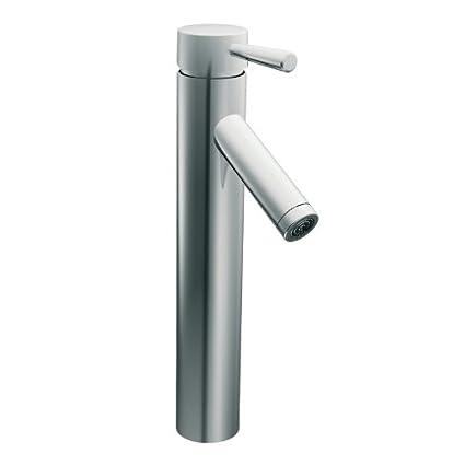 Moen 6111 Level One Handle Low Arc Vessel Bathroom Faucet Chrome