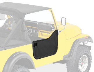 Bestop 53028-01 Black Crush Fabric Lower Half Door Set for 1976-1983 CJ7, CJ8 Scrambler - Door Latch Pivot