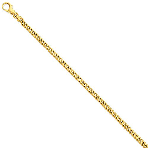 14k Yellow Gold 45mm Link Bracelet Chain Fancy H Fine Jewelry For Women Valentines Day Gifts For Her