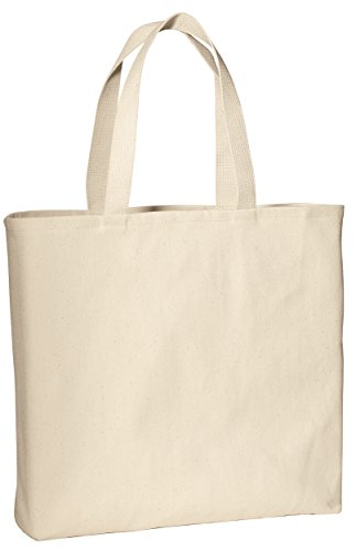 Durable 100% Cotton Twill Convention Wholesale Tote Bags w/ Bottom Gusset - Grocery Shopping Bags, Reusable Tote Bags in Bulk, Thick Cotton Canvas Eco-Friendly Tote Bags (1, Natural)