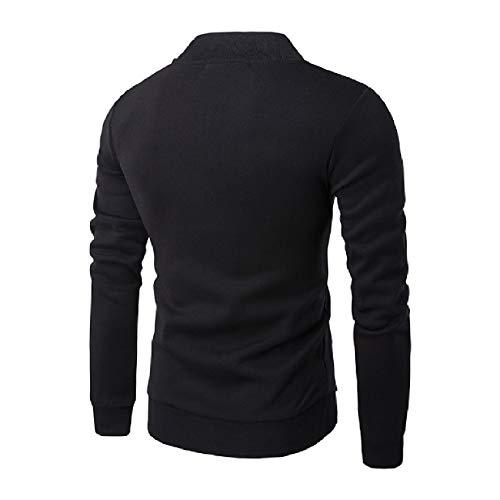 Outwear Black Up Fitted Fall Classic Baseball Warm Men's Fit Zip Jacket XINHEO xPwqTfBE